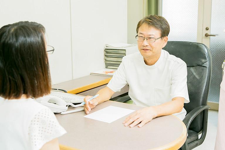 患者さまがどんなことでも話しやすい環境づくりを心がけています